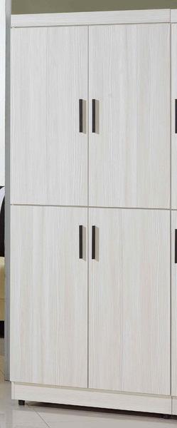 【森可家居】菲爾2.7x6尺雪山白高鞋櫃 7JF300-1 木紋質感 刷白 北歐風