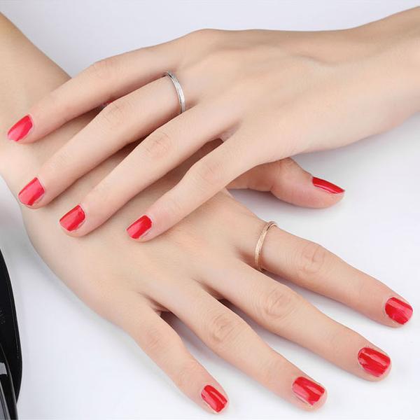 【5折超值價】時尚精美磨砂細圈造型鈦鋼戒指