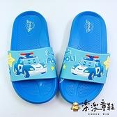 【樂樂童鞋】【台灣製現貨】POLI波力拖鞋 P040 - 現貨 台灣製 男童鞋 拖鞋 兒童拖鞋 小童拖鞋