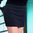 ~*艾美天后*~秋冬新款條紋半身裙顯瘦提臀包臀短裙窄裙子