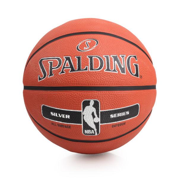 SPALDING 銀色NBA-Rubber (5號籃球 戶外 訓練 斯伯丁 ≡體院≡