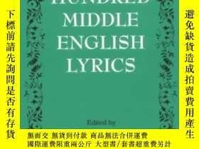 二手書博民逛書店One罕見Hundred Middle English Lyri