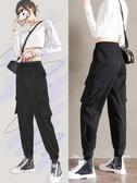 束腳褲工裝褲女寬鬆bf法式直筒褲子夏新品高腰顯瘦運動休閒褲