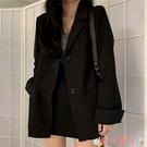 西裝外套 黑色小西裝女2021年春秋裝新款韓版寬鬆百搭休閒英倫鹽系炸街外套 愛丫 免運