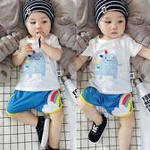 夏季嬰兒短袖T恤衫卡通純棉上衣