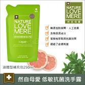 ✿蟲寶寶✿【韓國NatureLOVEMORE】然自母愛 保濕低敏抗菌洗手露 液體型 補充液250ml