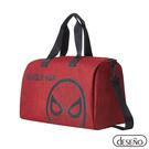 Marvel 漫威系列 蜘蛛人 正版授權 手提/側背 可插拉桿 休閒旅行袋 行李袋 旅行袋 紅色 202A09