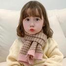 兒童圍巾 兒童圍巾春季韓版男女童脖套針織毛線寶寶女孩保暖圍脖潮【快速出貨八折下殺】