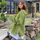 連帽上衣百搭學生韓版2020秋冬加絨新款寬松假兩件《微愛》