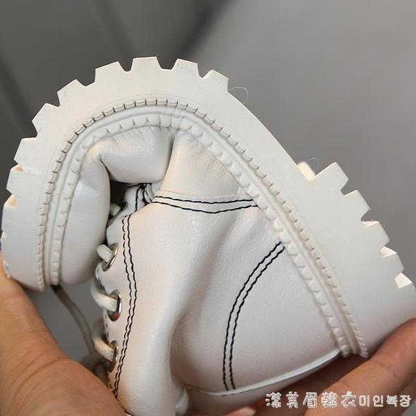 兒童馬丁靴2019秋冬新款女童靴英倫短靴保暖皮靴男童棉靴寶寶皮鞋 漾美眉韓衣