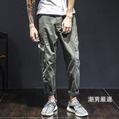 工裝褲日系直筒百搭男士工裝褲男寬鬆褲子復古休閒褲學生長褲S-3XL