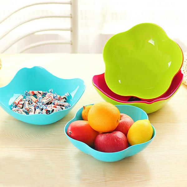 麥香水果盤創意客廳方形果盤家用簡約零食瓜子盤沙拉碗糖果水果盤─預購CH1420