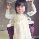 洋裝 春季新款童裝 珍珠項鍊蕾絲洋裝