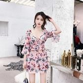 泳衣女三件套新款分體性感遮肚顯瘦保守韓國小香風溫泉游泳衣