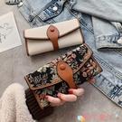 手拿包 小錢包女短款潮森系簡約個性撞色折疊零錢夾多卡位長款手拿包 愛丫 免運