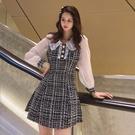 洋裝小禮服輕奢小香風連身裙女裝秋裝新款長袖仙女裙小個子T243快時尚