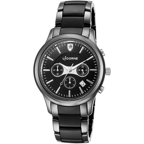 【LICORNE 力抗錶】 都會精緻陶瓷手錶 (白 LI096MBBI)