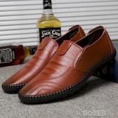 休閒鞋男男士豆豆鞋真皮駕車鞋休閒鞋透氣鞋軟底商務回力皮鞋英倫懶人潮紓困振興