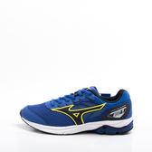 Mizuno  WAVE RIDER 21 JR 大童跑鞋-藍 K1GC182509