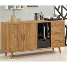 【森可家居】喬納森5尺三抽收納櫃 8CM928-3 餐櫃 碗盤收納 木紋質感