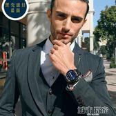 手錶 超薄手錶男學生韓版簡約潮流個性休閒鋼帶防水夜光機械男錶石英錶 下標免運