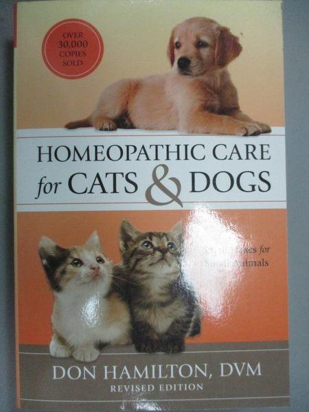 【書寶二手書T3/原文書_QHR】Homeopathic Care for Cats & Dogs: Small Dos