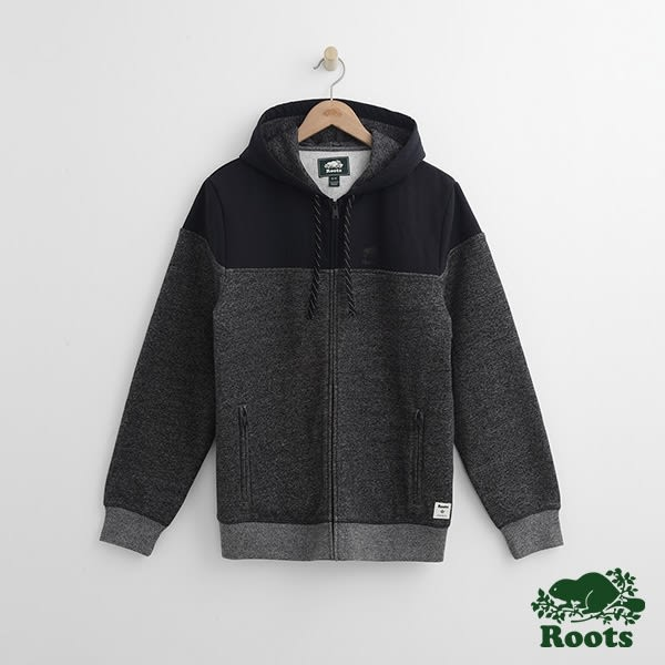 Roots-男裝-連帽外套 - 灰色
