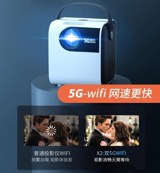 移動便攜式智能投影儀家用wifi無線超高清mini迷你家庭影院可連手機一體臥室宿舍上墻投屏電視