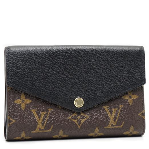 Louis Vuitton LV M60990 Pallas 經典花紋皮革拼接中夾.黑 全新 預購【茱麗葉精品】