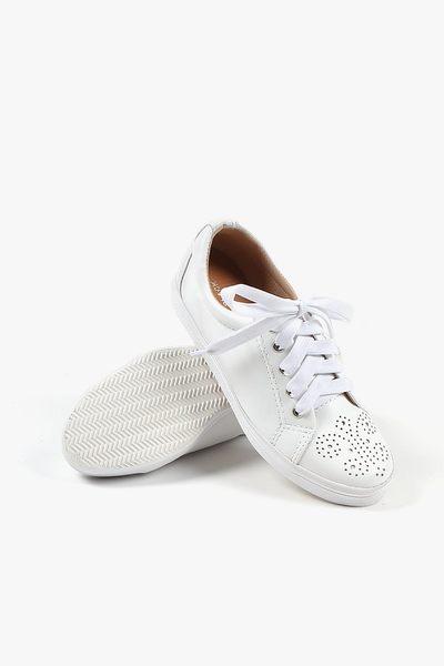 ALL BLACK 雕花休閒鞋  (白)