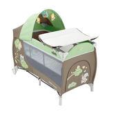 豪華遊戲床 cam豪華型多功能雙層遊戲床(棕綠) I-L113-225