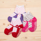 2016韓系KID'S BASIC圆点小花朵女童袜防滑地板襪/學步襪/嬰兒襪1-3歲適用