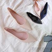 雨鞋女防滑果凍鞋女四季鞋尖頭舒適平底淺口女單鞋