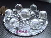 『晶鑽水晶』白水晶七星陣/盤*正統巴西白水晶~超白透亮18x24mm*免運費