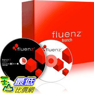 [美國直購 ShopUSA] Fluenz Version F2: French 1 (Win/Mac) with software DVD, audio CD, podcasts, and Navigator.  $7815