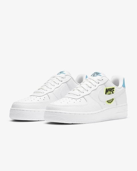 NIKE AIR FORCE 1 SE WW Worldwide AF1 白色 藍色 貼紙 別針 CT1414-101