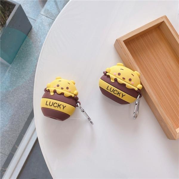 [ Airpods Pro 1/2 ] 小熊維尼蜂蜜罐 蘋果無線耳機保護套 iPhone耳機保護套