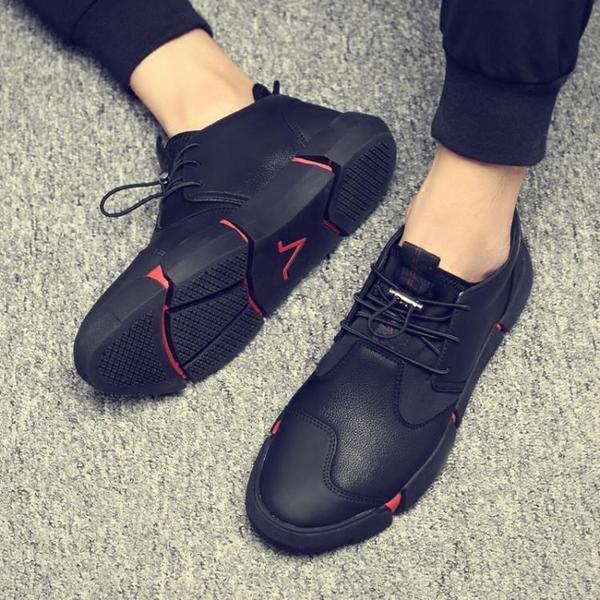 內增高鞋男 新款潮流英倫風休閒皮鞋