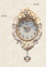 歐式掛鐘客廳靜音復古搖擺鐘錶創意田園石英鐘裝飾臥室時鐘