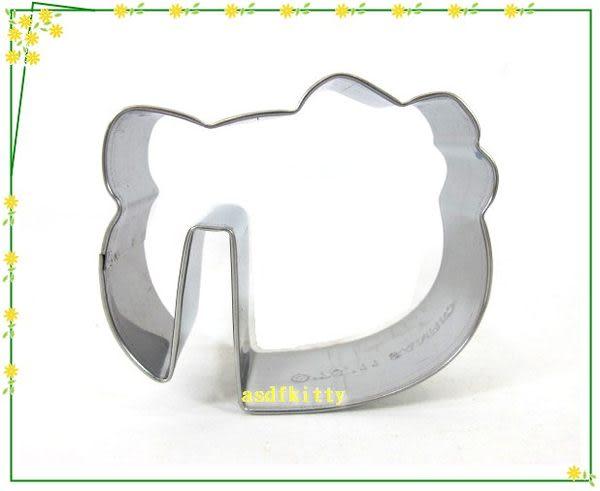 asdfkitty可愛家☆KITTY不鏽鋼餅乾壓模型-臉型杯緣子-歐美正版