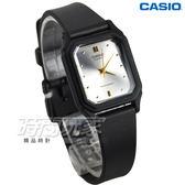 CASIO卡西歐 LQ-142E-7A 公司貨 簡約實用石英錶 指針錶 女錶 學生錶 防水手錶 方形 銀白x黑