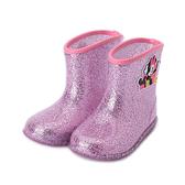 DISNEY 米妮 亮蔥短筒雨鞋 桃紅 121002 中小童鞋