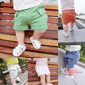 短褲 男童褲子夏季新款童裝女童薄款純色全棉短褲嬰兒休閒褲寶寶童褲潮 5色