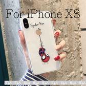 IDEA iPhone XS蜘蛛人透明手機殼 保護殼 全包 嚕嚕米 軟殼 盧蘋果 防摔殼 透明可愛 Xs 卡通