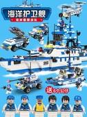 積木拼裝玩具益智8-10歲男孩子6-7組裝航母智力模型12 【免運】