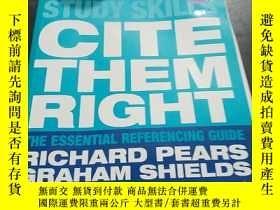 二手書博民逛書店CITE罕見THEM RIGHT RICHARD PEARS & GRAHAM SHIELDS,,Y35123