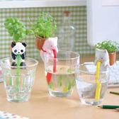 Qmishop 療癒動物喝水盆栽 桌面迷你綠植物 嘴巴吸水盆景 小盆栽【J1447】