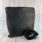 BRAND楓月 BOTTEGA VENETA BV 經典 編織 深咖啡色 金屬光澤 斜背包 側背包