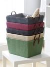 洗衣籃 可折疊日式加厚家用衣物編織臟衣籃玩具收納筐零食整理盒大儲物箱