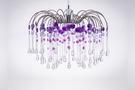 鍍鉻噴泉支架紫色壓克力珠吊燈-BNL00041